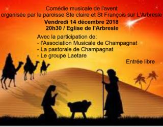 Comédie musicale de l'AVENT du vendredi 14 décembre